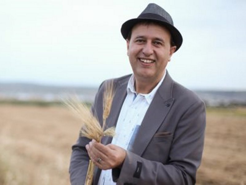 Nasser Abufarha, of Canaan Fair Trade, is adding new crops like freekeh,  a wheat grain that has been cultivated in the Middle East for millennia but fallen into disuse. Photo: warscapes.com.