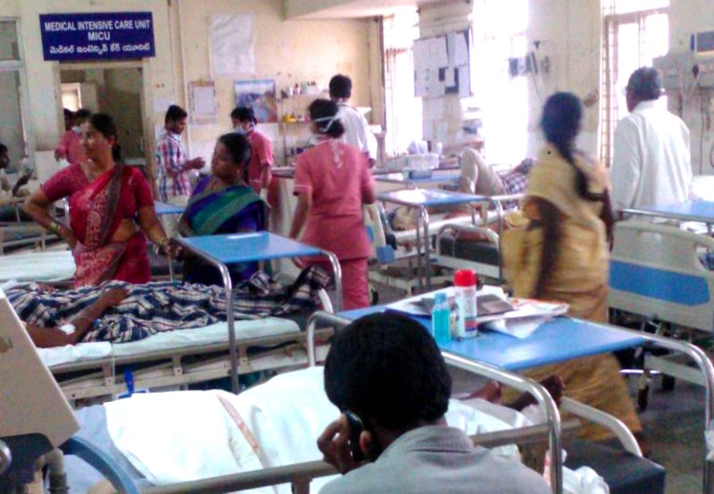 The emergency room at a hospital in Hyderabad, India, where antibiotic resistance is a public health crisis.    Photo: Jagan. S.