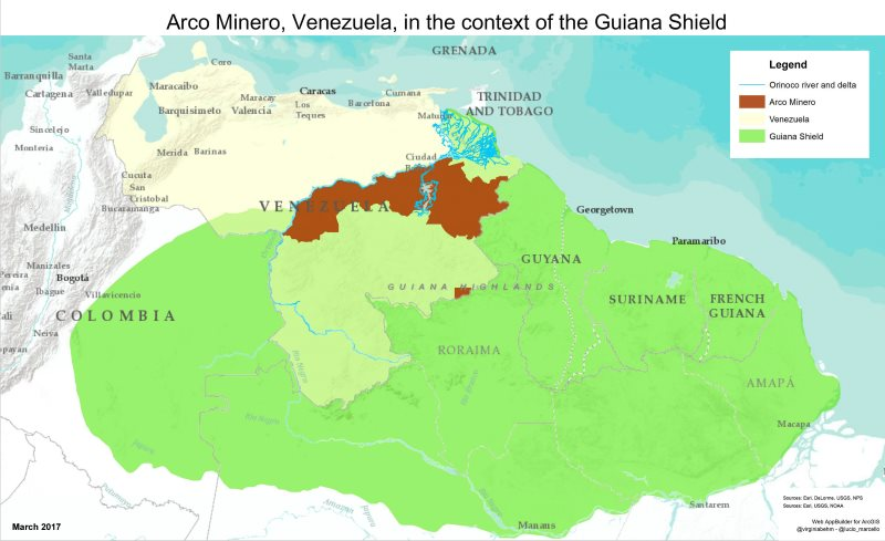 Figure 1. Image: Arco Minero Story Map.