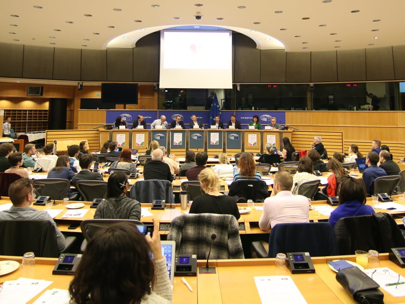 Plenary session of Nature's Rights Conference at the European Parliament. Photo: Kent Olsen / Nature's Rights.