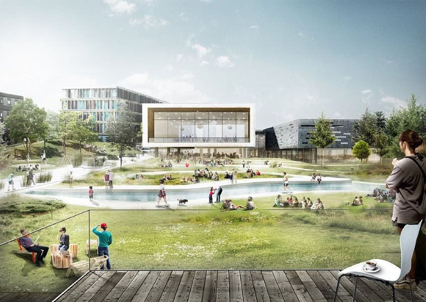 International architecture firm C.F. Møller won a competition to design the Copenhagen Business School's new urban campus. Image: C F Møller.
