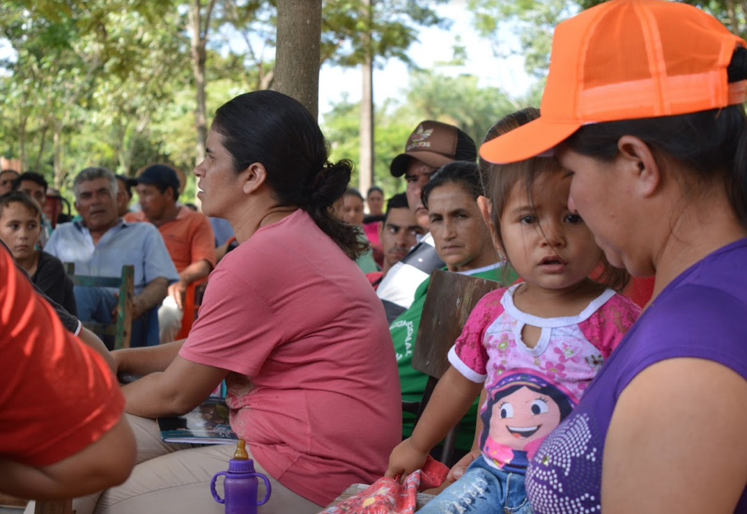 Women from Crescencio González participating in a community assembly. Photo by Inés Franceschelli