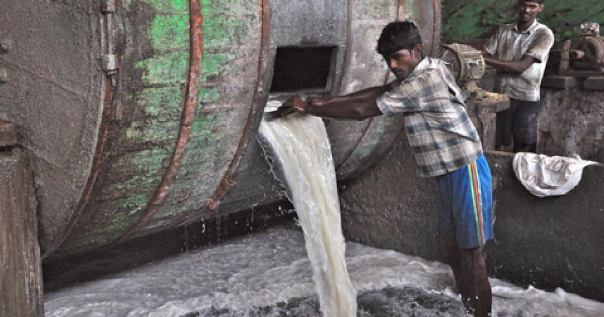 Toxic chemicals used for leather production poisoning India's tannery workers