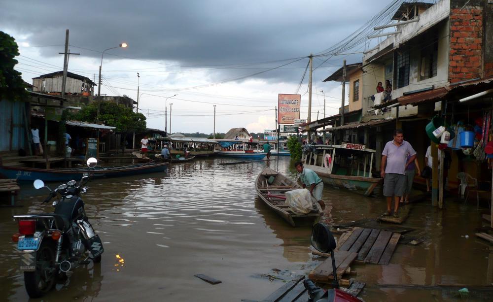 Inundación en Yarinacocha