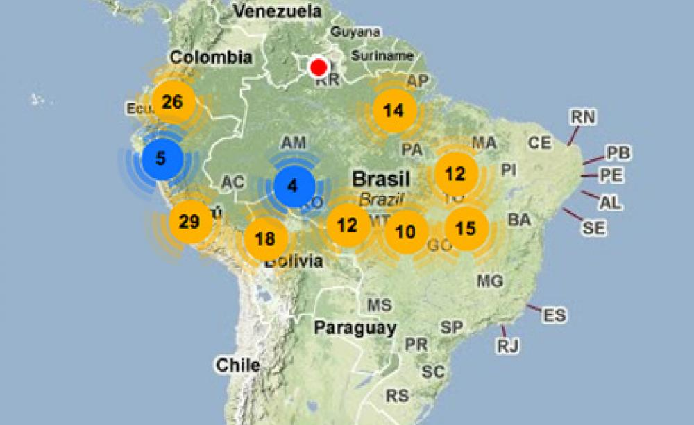 Rapid growth in amazon dams brought home by online map gumiabroncs Images