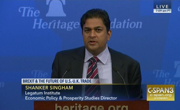 Shanker Singham of the Legatum Institute.