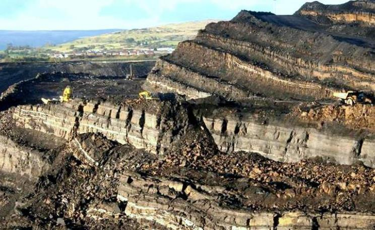 The view across an opencast mine