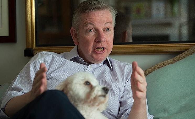 Michael Gove and his dog, Snowy