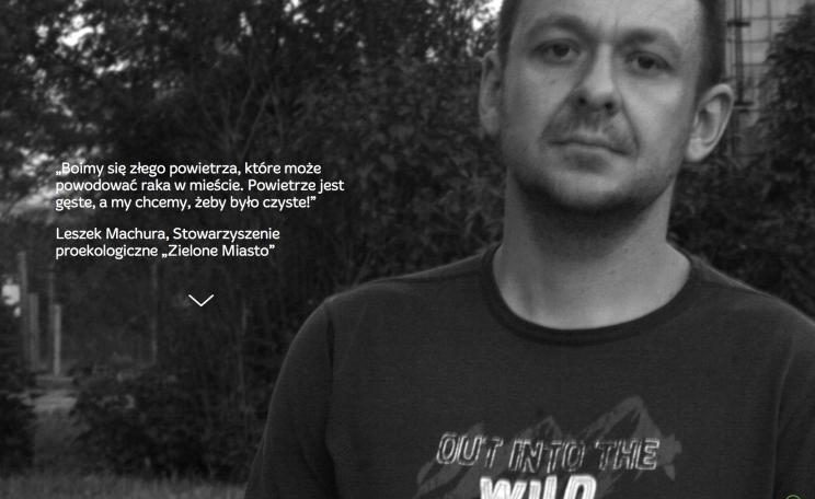 Leszek Machura, a local activist, appears on the new campaign website.
