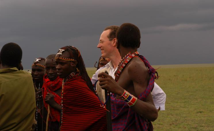 Dr Paul Farmer from Partners in Health is working with Masaai warriors in Kenya.