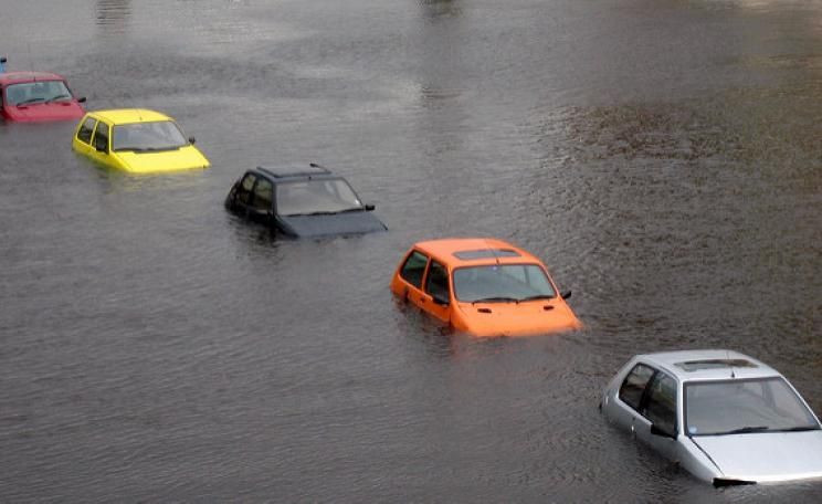 Submerged cars