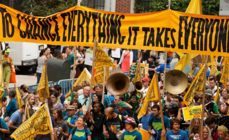 Photograph of people's climate march 2014