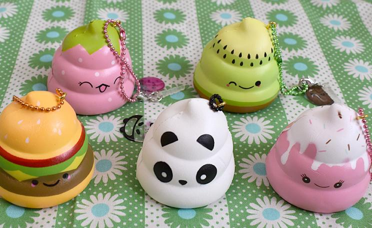 Squishies come in all shapes and sizes and have become a craze with children.