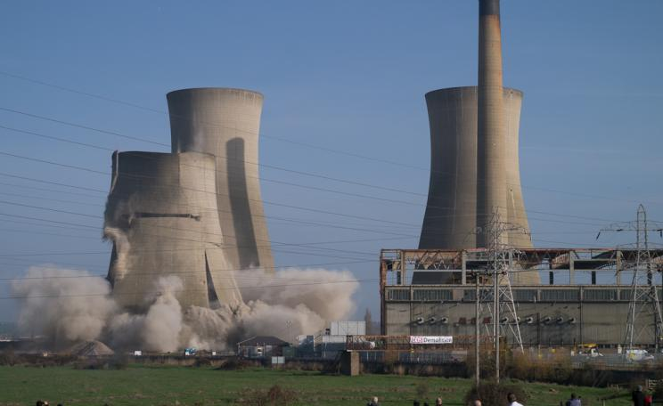 Demolition of the Richborough power station, UK