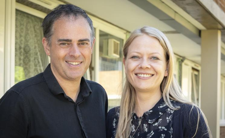 Sian Berry and Jonathan Bartley, new co-leaders of the Green Party.