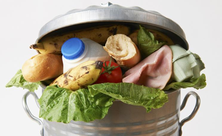 Food in the rubbish bin