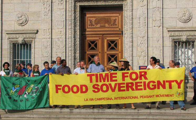 Food sovereignty campaigners