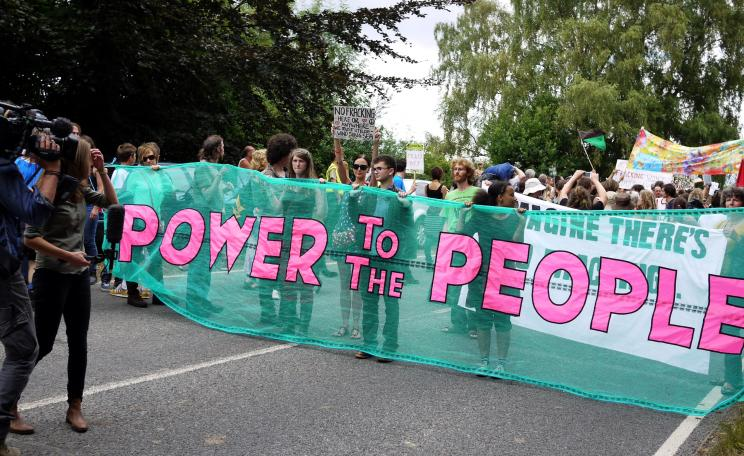 Power to the people banner