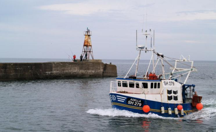 Fishing off Northumberland coast
