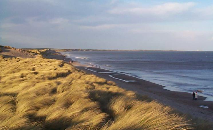 Druridge Bay in Northumberland, where an open cast coal mine is proposed