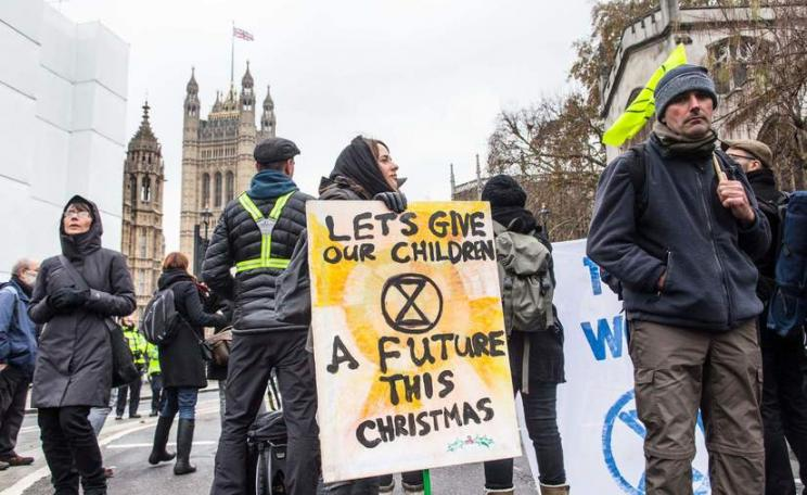 Extinction Rebellion placard