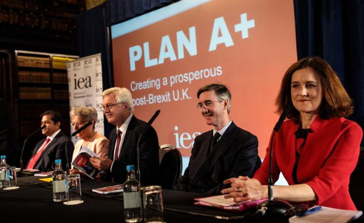 Shanker Singham, Gisela Stuart, former Brexit Secretary David Davis, Jacob Rees-Mogg and former Northern Ireland secretary Theresa Villiers