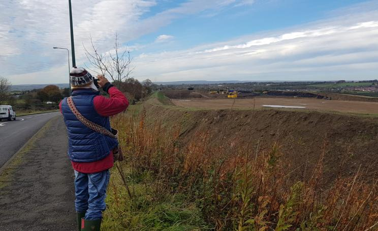 Luis Misael looks out over Banks Mining's Bradley mine, in Point Valley, County Durham