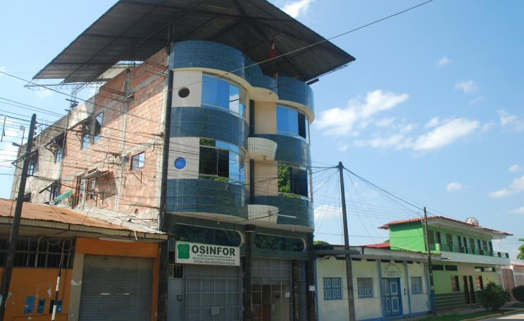 OSINFOR's office in the town of Atalaya in Peru's Ucayali region.