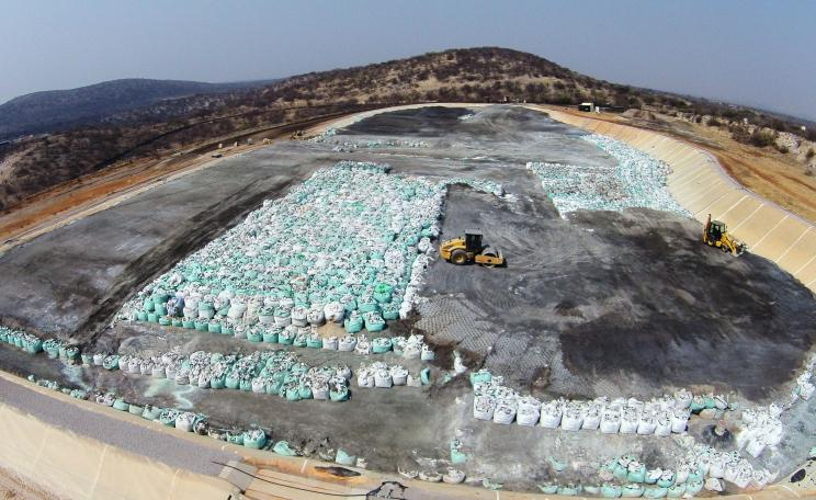 Aerial picture of the arsenic dumpsite in Tzumeb