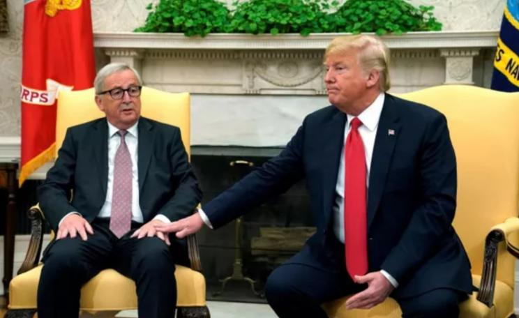 Trump meets Juncker in White House