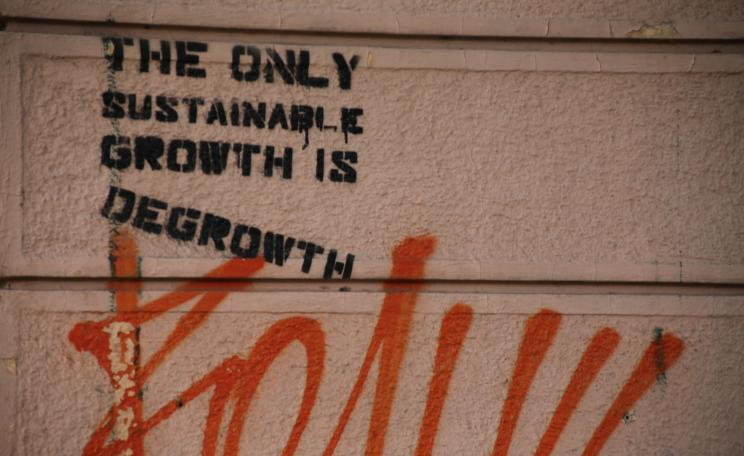 Degrowth graffiti