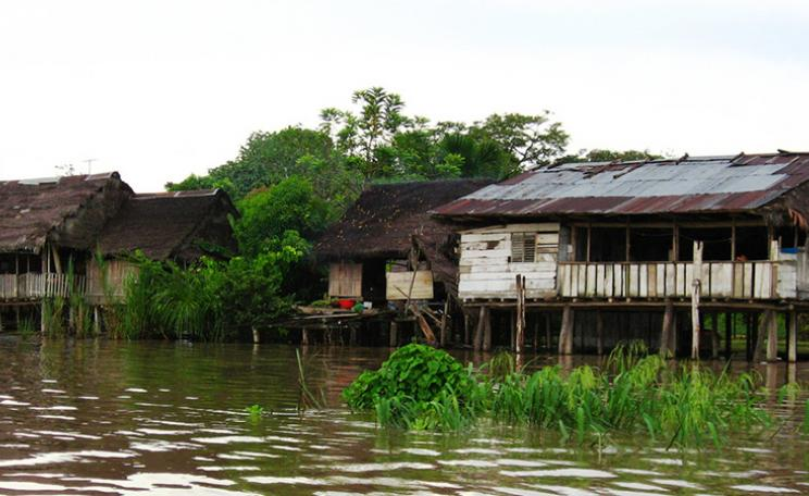 Brazillian dwelling on river