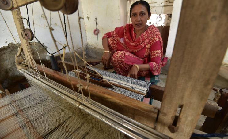 Women like Jaishree Habubhai (Adhoi village) have been an essential part of the weaving transformation in Kachchh