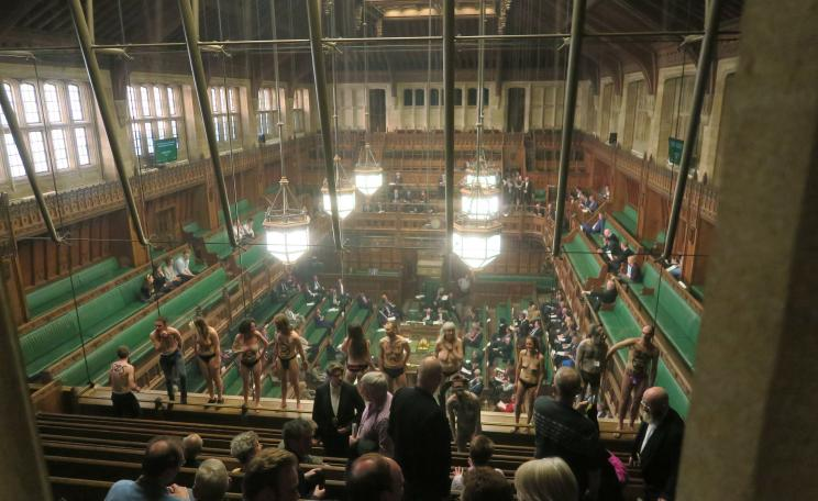 Extinction Rebellion activists strip off in parliament to highlight climate crisis