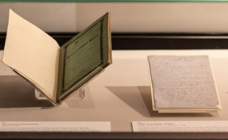 Communist manifesto on display at the British Library