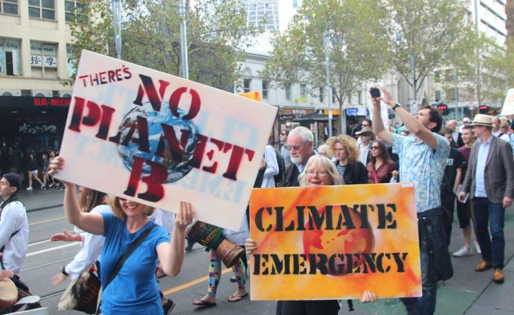 Climate emergency demonstration