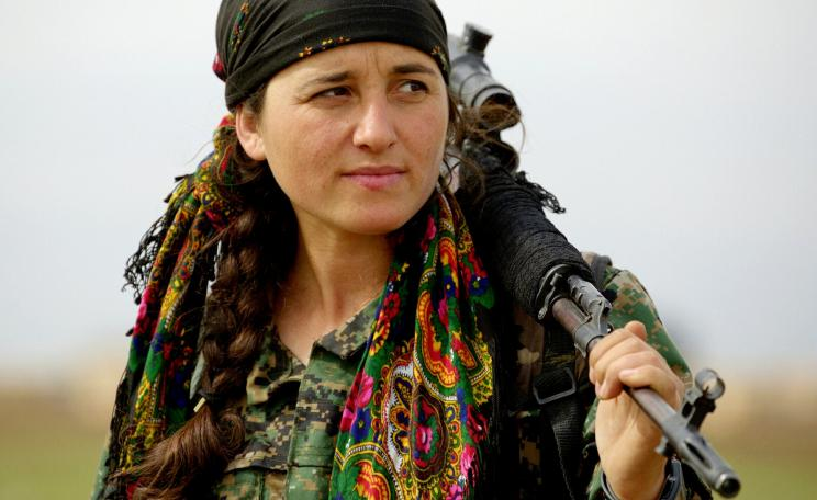 Kurdish YPG fighter