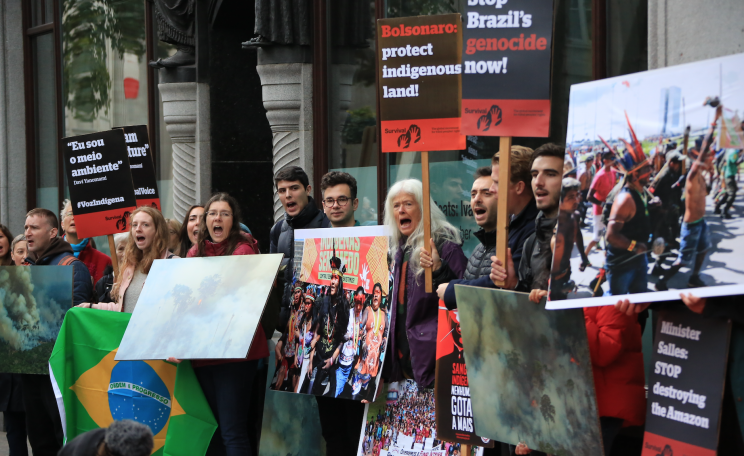 Demonstration outside Brazilian embassy