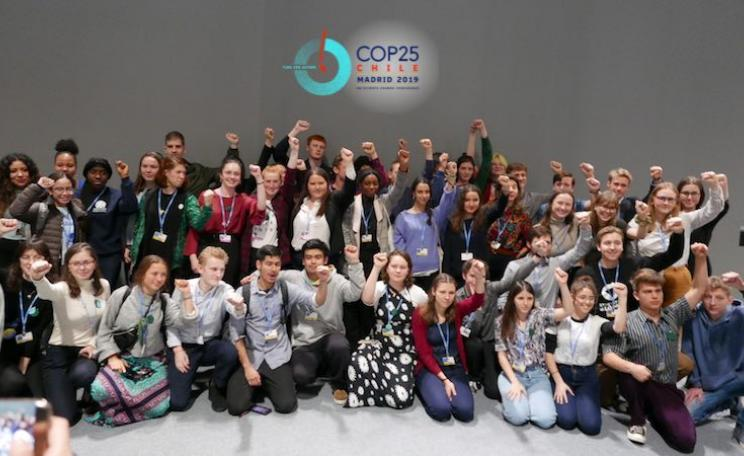 Youth strikers at COP25