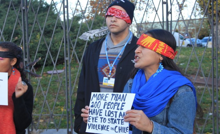 Indigenous activists at COP