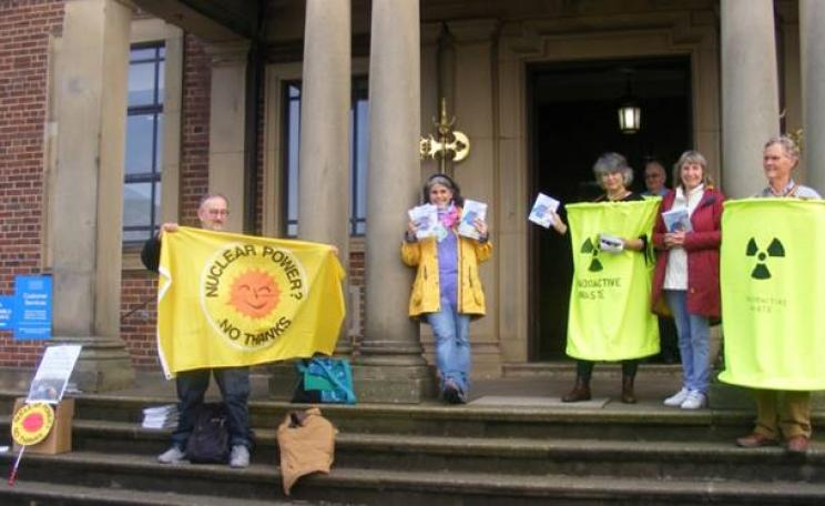 Campaigners outside Lancaster City Council