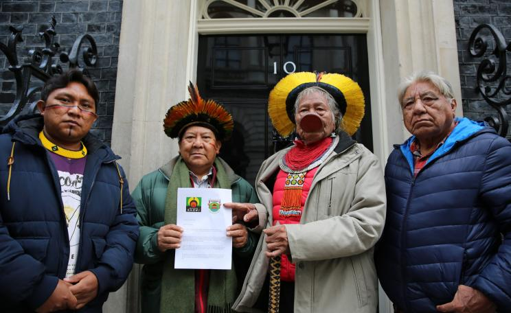 Amazon leaders outside No 10