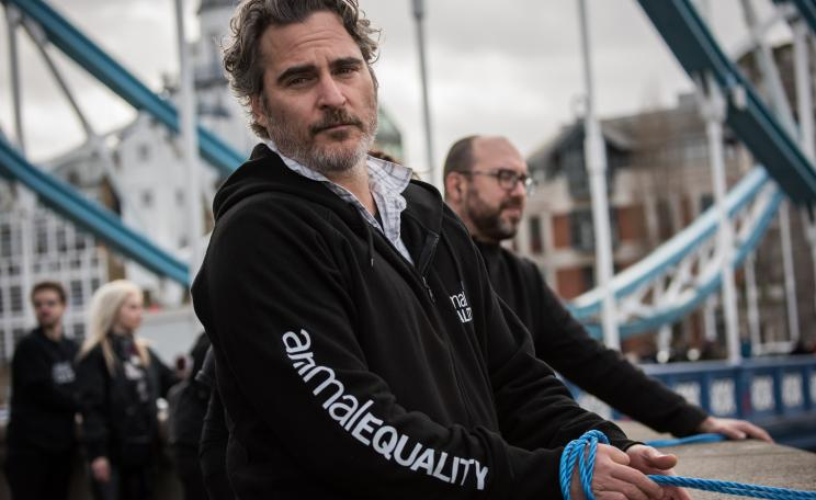 Joaquin Phoenix Supporting Animal Equality Action