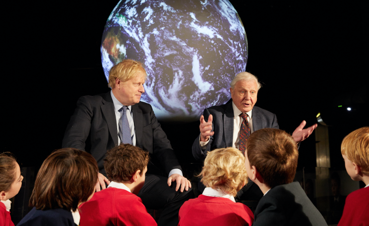 Boris Johnson and David Attenborough