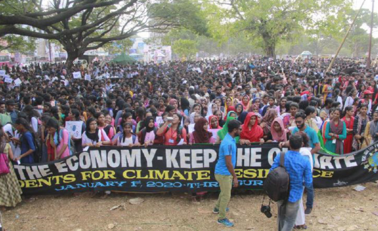 Students for Climate Resilience launching their campaign in Thrissur, Kerala