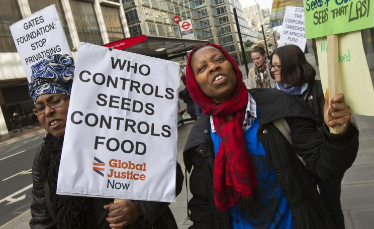 Food sovereignty protest