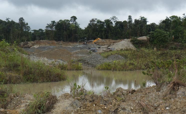 Illegal gold mine