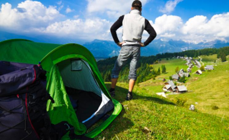 How to…pitch a tent and make it stay put
