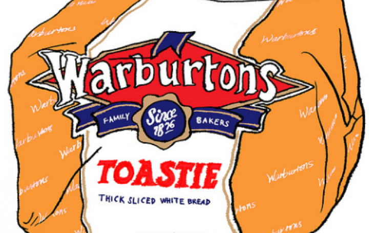 Warburtons 'Toastie'. Graphic by Hwa Young Jung via Flickr.com.