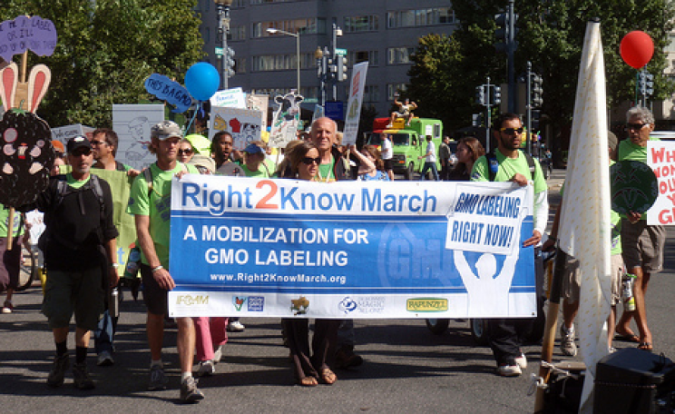 Right 2 Know March in Washington DC for mandatory GMO Labeling. Photo: Daniel Lobo.